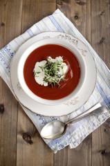 tomato soup with sour cream