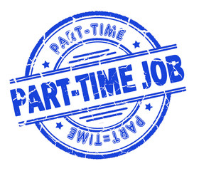 part-time job stamp