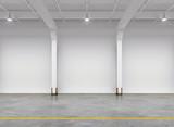 Fototapety Empty warehouse interior