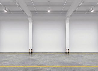 Empty warehouse interior