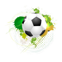 Soccer ball on grungy background