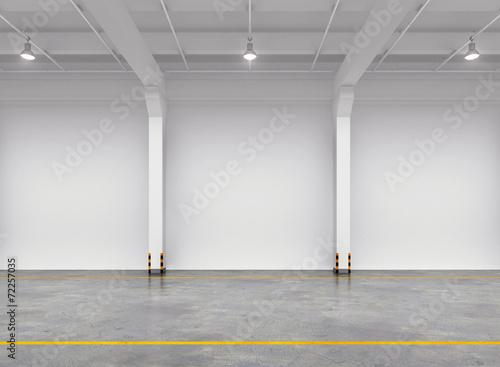 Empty warehouse interior - 72257035