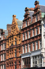 Some typical british red brick mansions