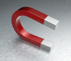 Horseshoe Magnet on Steel