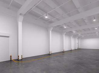 Empty warehouse interior
