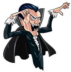 Cartoon threatening vampire