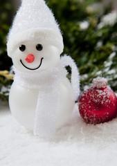 bonhomme de neige boule de Noël
