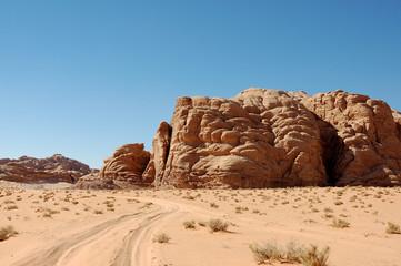 Wadi Rum desert landscape, Jordan.
