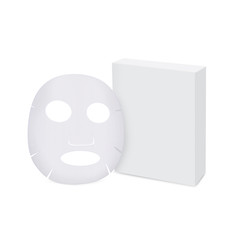 Facial sheet mask and box isolated