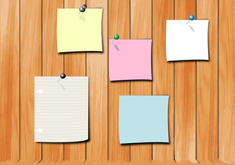 note pad on wood wall