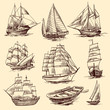 Ships and boats sketch set - 72260866