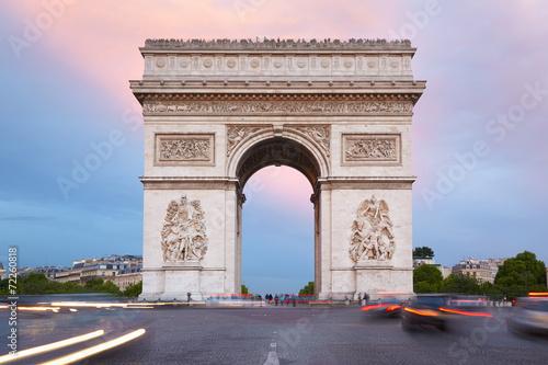 Zdjęcia na płótnie, fototapety, obrazy : Arc de Triomphe in Paris view from Champs Elysees