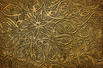 gringe background with oriental ornaments .