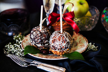 apples on a stick in the new year