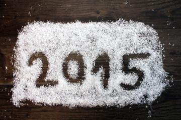 Jahreswechsel 2015 in Schnee geschrieben