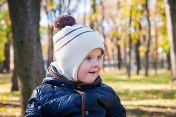 Cute kid outdoors