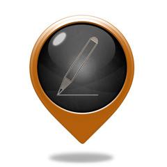 Pencil pointer icon on white background