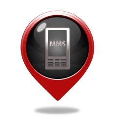 mms pointer icon on white background