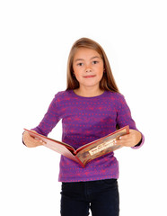 Little girl with a book.