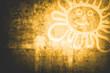 goldene Sonnensilhouette