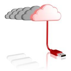eine Wolke ist eine Datenwolke
