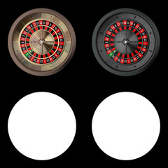 Realistic Casino Roulettes from Top