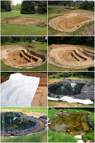Construction d'un bassin de jardin - 72265262
