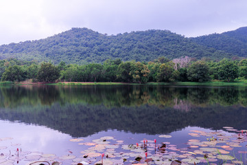 Mountain and Lake at Sattahip District , Chonburi province in Th