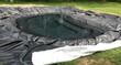 Leinwandbild Motiv Construction d'un bassin de jardin