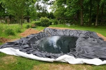 Construction d'un bassin de jardin