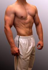 Muscular male torso showing muscle detail