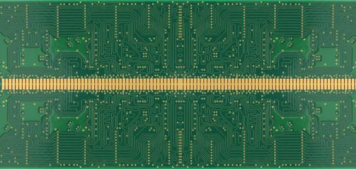 Green of electronic circuit board.