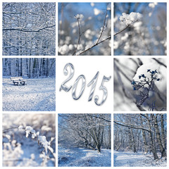 2015, snow and winter landscapes collage