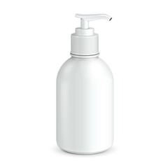 Gel, Foam Or Liquid Soap Dispenser Pump Plastic Bottle White