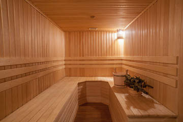 Finnish Sauna with Wooden