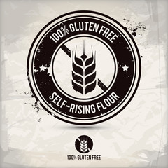 alternative gluten free stamp on textured background