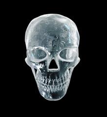 Ice sinister human skull