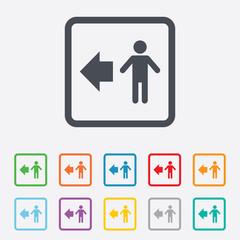 Pedestrian road icon. Human path.