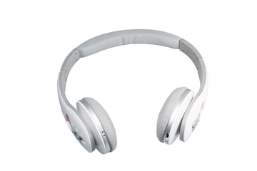 headphones on a white