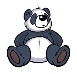 Funny vector cartoon colorfull panda. Vector illustration