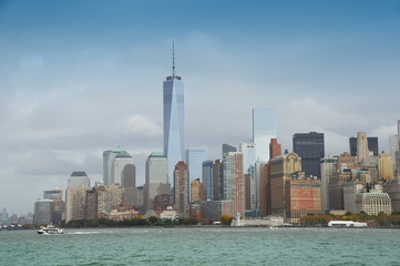 Ile de Manhattan à New-York USA