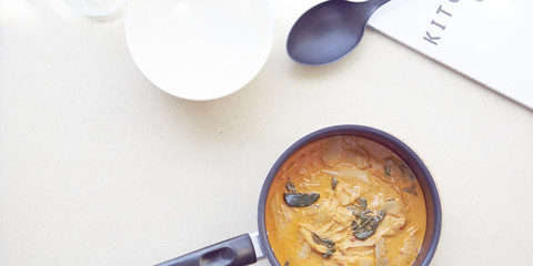 Red Curry Chicken with bamboo