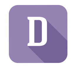 Letter d alphabet, flat icon