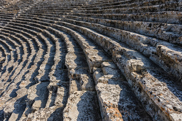 Steps at Ancient theater in Hierapolis