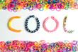 canvas print picture - Rainbow loom bracelet