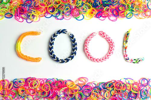 canvas print picture Rainbow loom bracelet
