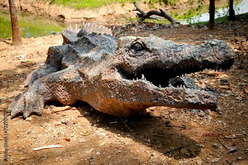 In de dag Krokodil artificial crocodile