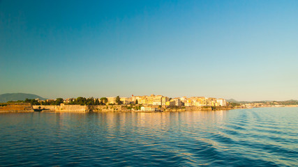 Corfu town - Greece. View from the sea