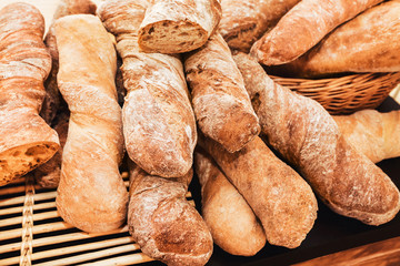 pile of french baguette