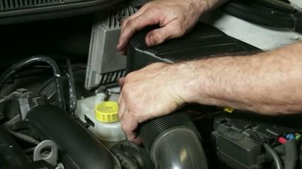Car Repair Mechanic Mounting Automobile Air Filter